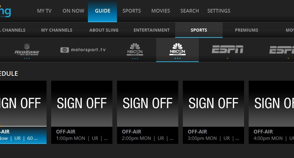Nbcsn Alt And Alt2 Off Air On Sling Tv The Streaming Advisor