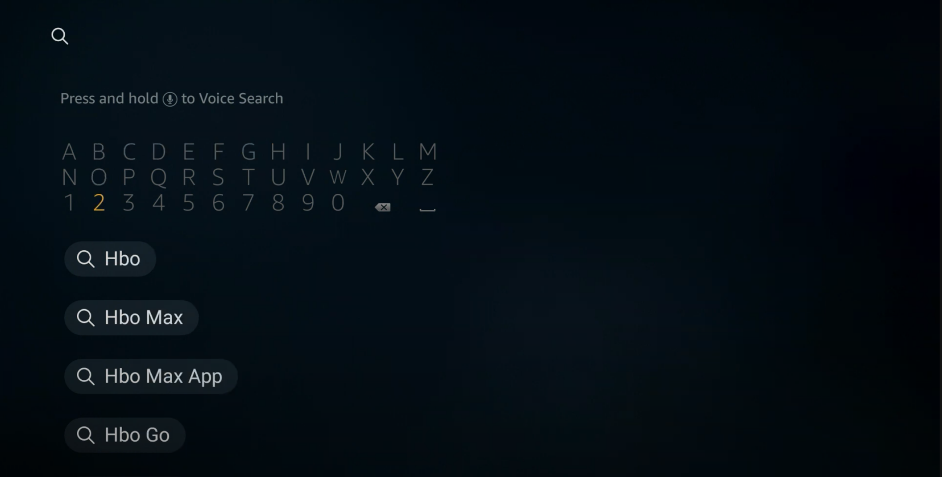 Using manual search for HBO Max